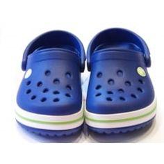 Crocband Kids Cerulean Blue And Volt Green