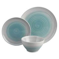 Buy Habitat Atkinson Blue Set of 12 Dinnerware at Argos.co.uk, visit Argos.co.uk to shop online for Crockery