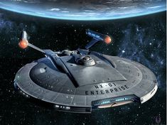 "The USS Enterprise NX-01 from the Star Trek prequel ""Enterprise"""