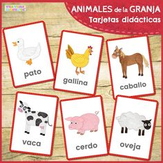 Use these fun farm animal picture-word flashcards at school or at home to help teach your little one Farm Animals Games, Farm Animals For Kids, Farm Animals Pictures, Animal Games, Monkeys Animals, Farm Activities, Toddler Learning Activities, Animal Activities, Baby Flash Cards