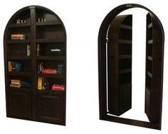 Hidden Passageway Custom Bookcase Door.....I love secret rooms