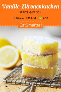 Smart snack: vanilla lemon cake – low calorie – medium – that's how healthy it is … – Obstkuchen Smart Snacks, Tres Leches Cake, Kebabs, Health Desserts, Healthy Chicken Recipes, Desert Recipes, Food Design, No Bake Cake, Guacamole