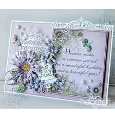 Wonderful Warm Wishes - created w/ the Lush Lilac Collection from Heartfelt Creations - Birthday Greetings, Birthday Wishes, Birthday Quotes, Happy Birthday, Flower Cards, Paper Flowers, Heartfelt Creations Cards, Handmade Birthday Cards, Pattern Paper