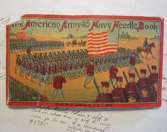 vintage needle book - The American Army and Navy Needle Book