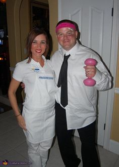 Flo and Mayhem! Ranging from the 5 minute costume to some that will take a little more planning, these adult Halloween costumes are bound to get a few laughs at the party. Get inspired by the following Halloween costume ideas and don't settle for a disappointing and unoriginal costume – why feel like a weeny on Halloweeny? - See more at: http://blog.nextdayflyers.com/22-easy-funny-halloween-costume-ideas-2014