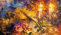 """Violin of emotions"" by Leonid Afremov ___________________________ Click on the…"