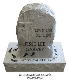 Baker With Matching Bench Headstone in Black Granite