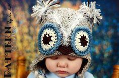 Pink Berry Owl Hat PDF Crochet Pattern by Ira Rott