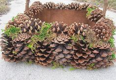 PINE CONE BaSKET nature wedding natural by thekeepershouse