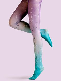 7101e14b77 Viken Plan Ceative Designed Tights   Stockings - Purple Feather About  Designer  Coming from Beijing