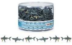 These 1-inch sharks make perfect cupcake toppers, table confetti, or party favors. Sold individually, so you only order what you need!