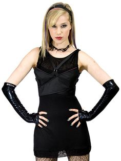 Bandage dress with push up harness bust line by by PlastikWrap, $125.00 goth