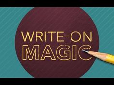 KINETIC TYPOGRAPHY MIN 13 Write-On Magic - After Effects Tutorial - YouTube