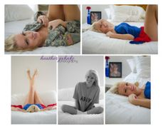 Military Boudoir Session in ACU jacket, PT shirt and a Red & Blue Scarf ;)