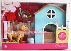 VERY RARE 2006 BARBIE DREAM PUPPY HOUSE PLAYSET MATTEL BRAND NEW SEALED MISB ! #Mattel