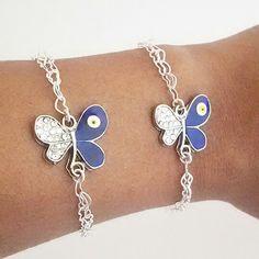 Fun evil eye butterfly bracelet