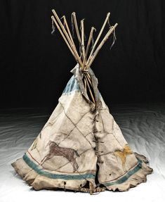 Miniature Plains Hide Tipi w/ Painted Horses, ca. 1890 - Jan 30, 2020 | Artemis Gallery in CO