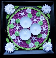 Ayani art: quilled candle holder