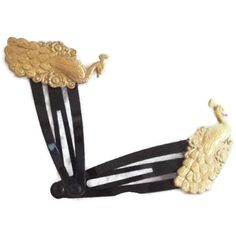 2 Vintage Inspired Hairclips  Handmade Hair by SophiesHatsandMore