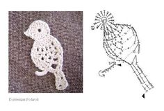 Patrones Aves ganchillo 2D / búho Applique: Crochetpedia