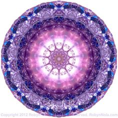 """Inner Light"" Healing Gemstone Mandala Art by Robyn Nola ♥ #mandala #art"