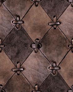 A leather wallpaper with a slightly metallic finish! As true to nature as few others, even if the wallpaper of course is made out of paper. For those who love to decorate with natural materials, this is an amazing wallpaper. Cut-outs of rhombs fastened with leather string. Gorgeous!