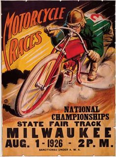 1926 Motorcycle Race advert - Milwaukee