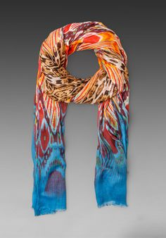 TWELFTH STREET BY CYNTHIA VINCENT Ombre Leopard Scarf in Blue Ombre at Revolve Clothing - Free Shipping!