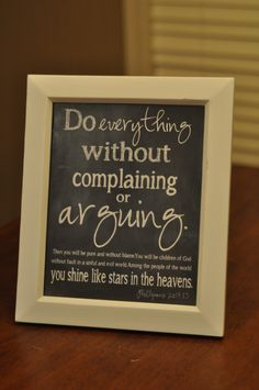 Do Everything Without Arguing or Complaining – Free Printables