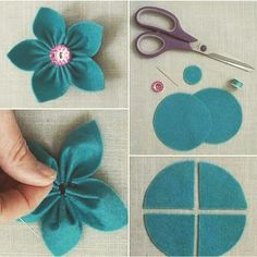 Top Tips, Tricks, And Techniques For Your Perfect fabric flowers Cloth Flowers, Felt Flowers, Diy Flowers, Fabric Flowers, Felt Crafts Diy, Fabric Crafts, Sewing Crafts, Felt Flower Tutorial, Felt Embroidery