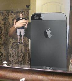 Funny Selfies: iPhone selfie
