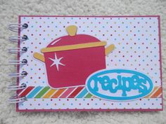 4 x 6 Inch Chipboard Recipe Book