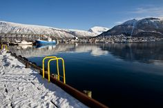 PHOTO: Bridge in Tromso NorwayHarbor bridge in Tromso, Norway crosses an inlet of the Norwegian Sea