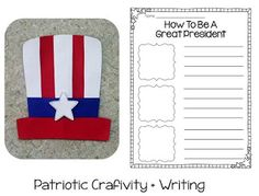 Presidents Day craft + writing
