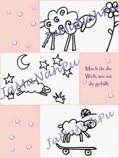 JaMa´s Welt und Nähpuls : JaMaNähPu Freebie Schaf Ostern Plotter Motiv Blume Sterne Mond