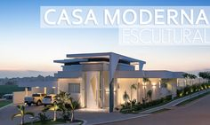 Fachada de casa moderna e escultural maravilhosa! Confira detalhes e ambientes internos!