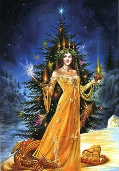 Lady of the Yule Lights - Solstice d'Hiver - (c) Briar