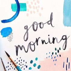 Ooh is it Monday again already? This weekend has flown by but we're back in the studio, our pencils poised to draw up some shiny new artworks ✨ Wishing you all a very good morning from everyone here at P&C with this lovely bit of lettering by our illustrator Gem  . . . . . #illustration #handlettering #markmaking #printandpattern #watercolour #painting #paperandclothstudio #goodmorning #mondaymotivation #livecreative