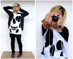 "Skulls and Mickey Mouse (by Momo ""Ducky"" Ling) http://lookbook.nu/look/1740784-Skulls-and-Mickey-Mouse"
