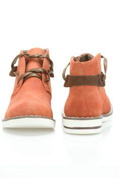 Maker's Shoes Pop 2 Booties In Cognac - Beyond the Rack $29.99