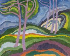 Janos Mattis-TeutschPaysage / LandscapeHuile sur contre-plaqué / Oil on plywood plate43.5 x 54.5 cmVers / Circa 1918(Via Van-Ham: http://www.van-ham.auction.fr/_fr/lot/mattis-teutsch-janos-brasov-1884-1960-landschaft-um-1918-5959625%23.VSGjZhivirU%2522%2522)