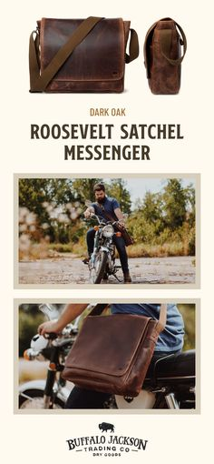 For the times you don't need a big bag, grab the Roosevelt Buffalo Leather Satchel Messenger. Mens Leather Satchel, Leather Key, Cowhide Leather, Leather Bags, Best Bridesmaid Gifts, Vintage Messenger Bag, Velvet Glove, Work Travel, Travel Bags