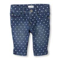 denim heart skimmer shorts