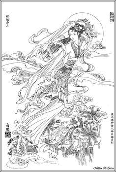 嫦娥奔月 - Chang'e, the lady in the moon (Chinese mythology)