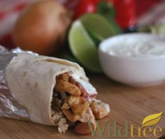 Chipotle Ranch Chicken Burritos  - Wildtree Recipes Only 140 calories. www.mywildtree.com/AMHeyman