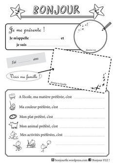 Je me présente - présentation en français