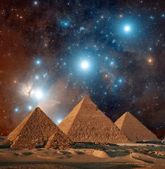 pyramid and stars