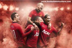 Manchester United 13/14 Nike Home Football Shirt -- Nice!