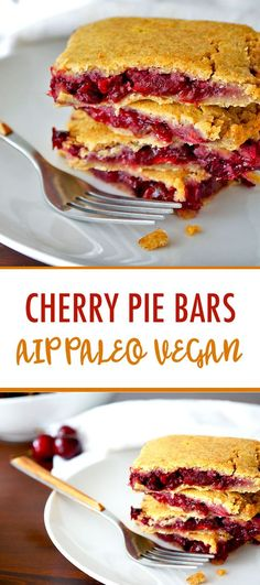 These grain-free Paleo AIP Cherry Pie Bars are the perfect summertime treat. The crust is made from sweet potato and coconut flour and they're sugar free!