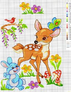 This Pin was discovered by Mil Cross Stitch For Kids, Cross Stitch Baby, Cross Stitch Animals, Counted Cross Stitch Patterns, Cross Stitch Charts, Cross Stitch Designs, Baby Embroidery, Cross Stitch Embroidery, Stitch Cartoon